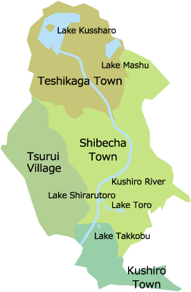 釧路川周辺マップ